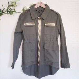 SWEET RAIN army green utility jacket
